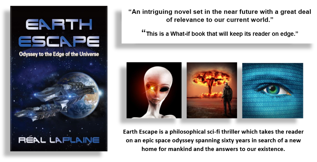 Earth Escape is a thrilling sci-fi and geopolitical book set in a possible future of Trumpian dystopia